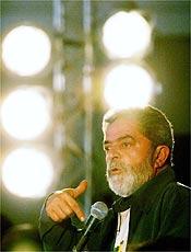 Lula faz em São Paulo seu primeiro discurso como presidente reeleito até 2010