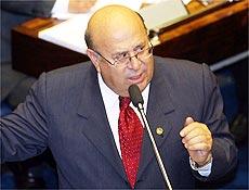 O senador Ney Suassuna (PMDB-PB), que escapou da cassação no Conselho de Ética