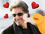 Psyduck dá uma beijoca em seu ator favorito, Al Pacino
