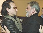 Bono vem em fevereiro com o U2 e quer rever Lula