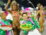 Rainha do Carnaval samba em desfile da Barroca Zona Sul