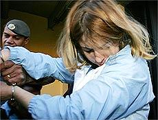 Suzane von Richthofen deixa delegacia rumo ao fórum da Barra Funda, em São Paulo