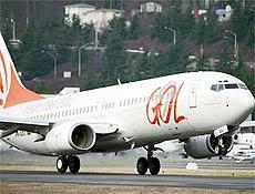 Boeing 737-800 da Gol, semelhante ao desaparecido na tarde desta sexta