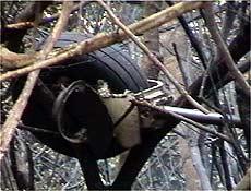 Destroços de avião que caiu no Maranhão