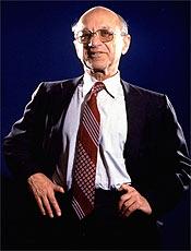 O economista Milton Friedman, 94, morto nesta quinta-feira, em foto tirada em 1977