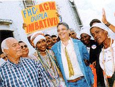 Resultado de imagem para ACM e Fernando Barros na campanha de 1994