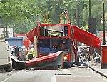 Ônibus de dois andares explodiu no centro de Londres