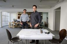 Arquitetos Alexandre, 32, e Alberto, 30