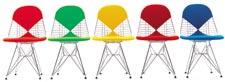 Cadeiras do casal americano Charles e Ray Eames, o começo da Vitra; ao lado, Fehlbaum com as Panton Chair, de Werner Panton