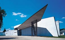 Sala de exposições projetada pela iraquiana Zaha Hadid