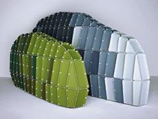'Rocs', paredes modulares de tecido para criar ambientes intimistas, dos irmãos Bouroullec