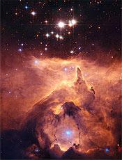 Imagem do telescópio espacial Hubble mostra luz das estrelas mais pesadas da via Láctea