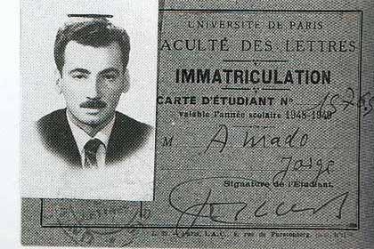 Carteira de estudante de Jorge Amado (Universidade de Paris, 1948-1949 ...