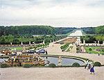 Vista dos jardins do palácio de Versalhes, na França