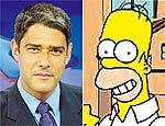 Bonner compara telespectador médio com Homer Simpson