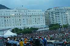 Mais de um milhão foram a Copacabana