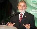 O presidente Lula em campanha eleitoral