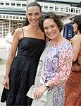 Regina Duarte e Ana Paula Arósio nos bastidores da novela