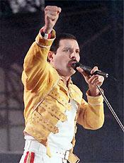 Freddie Mercury liderou o Queen