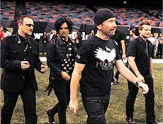 U2 e Green Day gravaram música em Londres