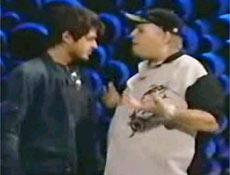 Ator Dado Dolabella em briga com o apresentador Jo�o Gordo, em 2003