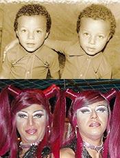 Fotos da infância trazem boas recordações às drags Dolly e Dolly