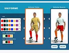 No Game Gol, internauta pode escolher uniformes, escudos e aparência do treinador