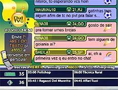 """""""Chat TV"""" mostra textos escritos via celular"""