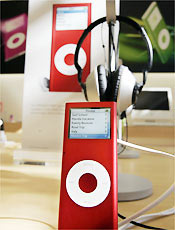 O novo Apple Red iPod Nano
