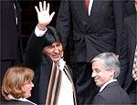Evo Morales (esq) e seu vice-presidente, Alvaro García