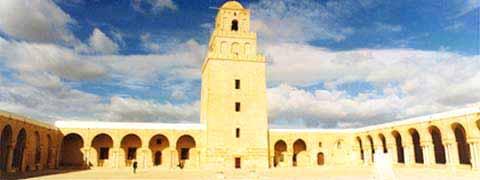 A grande mesquita, onde, diz a tradição, esteve o profeta Maomé