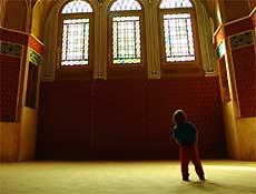Interior da casa Ameriha, em Kashan