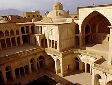 Pátio interno da casa Abassian, em Kashan