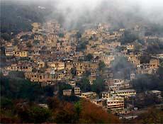 Vista de Masulé, no norte do Irã