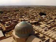Vista de Yazd a partir da mesquita Jame