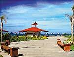 Quiosque em formato de estrela-do-mar na Costazul