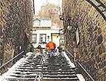 Escada que liga porto Velho à rue Petit Champlain