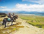 Cavalgada até monte Dorotea, de onde se vê Puerto Natales