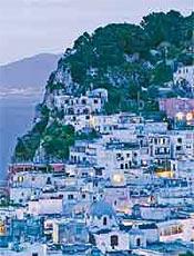 Entardecer na ilha de Capri