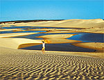 Sol nas dunas de Rio Novo