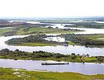 Vista aérea do rio Paraguai