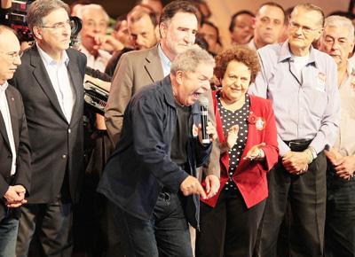 Lula participa de comício do candidato a prefeito de Belo Horizonte