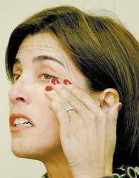 Paula, ex-secretária de Alto Rendimento, na entrevista em que criticou o ministro Agnelo Queiroz - Antônio Gaudério/Folha Imagem